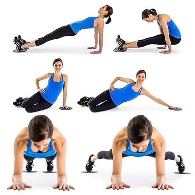 2Pcs Exercise Disc Sliders