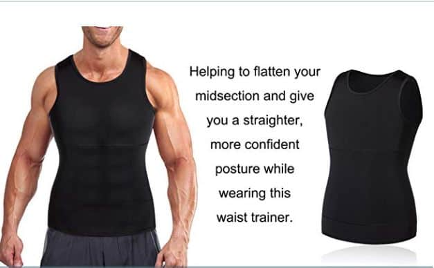 Mens Compression Body Shaper Vest