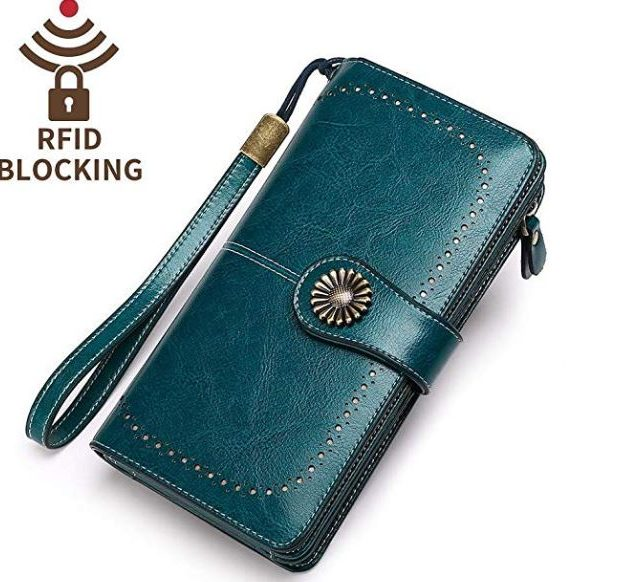 Genuine Leather Large Purse (RFID Blocking)